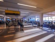 Luchthaven wachtende gebieden Stock Fotografie