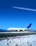 Luchthaven in wintertijd Stock Afbeeldingen