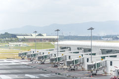 Luchthavenhanger royalty-vrije stock afbeelding