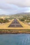 Luchthavenlandingsbaan St Lucia Royalty-vrije Stock Foto's