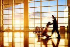 Luchthavenpassagier stock foto