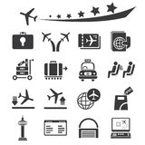 Luchthavenpictogrammen royalty-vrije illustratie