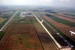Luchthavens van hierboven Royalty-vrije Stock Foto's