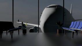 Luchthaventerminal stock illustratie