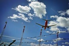 Luchthavenveiligheid Stock Foto
