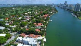 Luchtherenhuizen Miami stock footage
