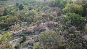 Luchthommelmening van de Botanische tuin van UNAM stock videobeelden