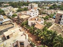 Luchthommelmening van niarela Bamako Mali Royalty-vrije Stock Fotografie