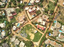 Luchthommelmening van niarela Quizambougou Niger Bamako Mali stock afbeeldingen