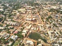 Luchthommelmening van niarela Quizambougou Niger Bamako Mali stock foto