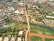 Luchthommelmening van niarela Quizambougou Niger Bamako Mali stock afbeelding