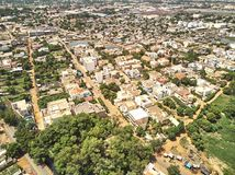 Luchthommelmening van niarela Quizambougou Niger Bamako Mali stock fotografie