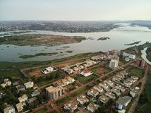 Luchthommelmening van niarela Quizambougou Niger Bamako Mali royalty-vrije stock afbeeldingen
