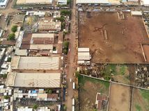 Luchthommelmening van niarela Quizambougou Niger Bamako Mali stock foto's