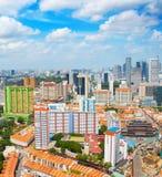 Luchthorizon van Singapore royalty-vrije stock afbeeldingen