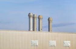 Luchtleidingsfabriek Stock Foto's