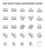 Luchtleidingspictogram Stock Afbeeldingen