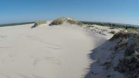 Luchtlengte van het Nationale Park van Slowinski in Polen - maaiende duinen stock footage