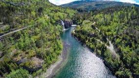 Luchtlengte van mooie aard Noorwegen stock video