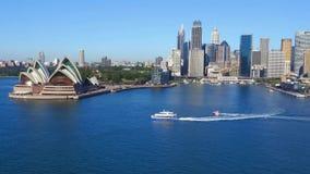 Luchtlengte van Sydney Harbour stock videobeelden