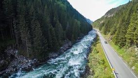 Luchtlengteweg in de mooie aard Noorwegen van Noorwegen stock video