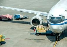 Luchtlogistiek stock afbeeldingen