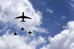 Luchtmacht in de hemel Stock Foto's