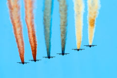 Luchtmacht op militaire parade. Stock Fotografie