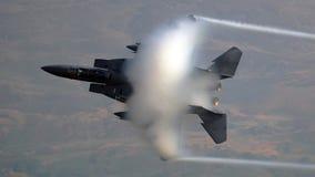 Luchtmacht van de V.S.F-15 Eagle-vechters straalvliegtuigen stock fotografie
