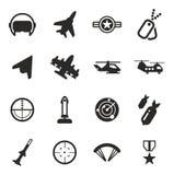 Luchtmachtpictogrammen stock illustratie