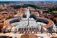 Luchtmening aan de Stad van Vatikaan in Rome royalty-vrije stock afbeeldingen