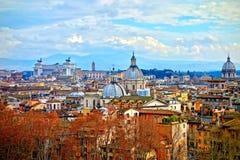 Luchtmening de daken van van Rome, Italië Royalty-vrije Stock Foto's