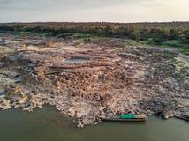 Luchtmening de grote canion van van Samphan bok (bok 3000) van Thailand Stock Foto's