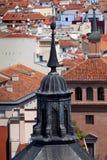 Luchtmening de koepel van van Madrid (Spanje)/en daken van de stad stock foto