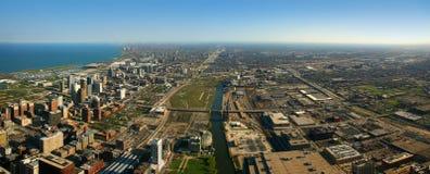 Luchtmening de Zuid- van Chicago Stock Foto's
