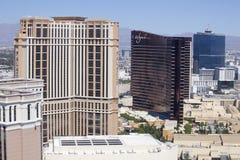 Luchtmening die de Strook van Las Vegas in Nevada overzien royalty-vrije stock afbeelding