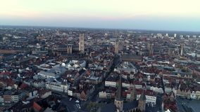 Luchtmening Gent stock videobeelden