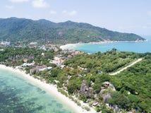Luchtmening: Het hoogste gezichtspunt van John Suwan bij Koh tao Royalty-vrije Stock Afbeeldingen