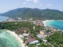 Luchtmening: Het hoogste gezichtspunt van John Suwan bij Koh tao Royalty-vrije Stock Foto