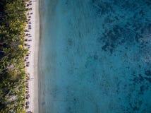Luchtmening: Het Strand van Trou aux Biches Stock Afbeelding