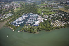 Luchtmening Kressbronn Marina Lake Constance Stock Foto's