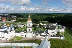 Luchtmening op Tobolsk het Kremlin Rusland stock fotografie