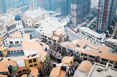 Luchtmening over de stad Stock Foto's