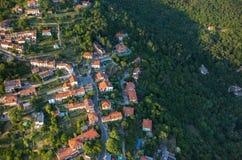 Luchtmening over de stad Italië Stock Afbeeldingen