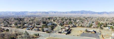 Luchtmening over Denver Colorado Stock Foto