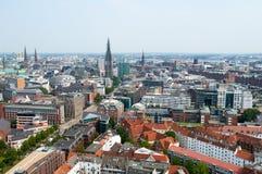 Luchtmening over Hamburg duitsland Royalty-vrije Stock Afbeeldingen