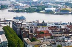 Luchtmening over Hamburg duitsland Royalty-vrije Stock Fotografie