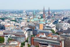 Luchtmening over Hamburg duitsland Stock Foto