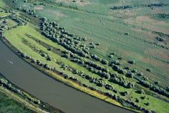 Luchtmening over het Deltamoerasland van Donau, Roemenië Royalty-vrije Stock Fotografie