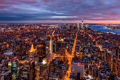 Luchtmening over New York royalty-vrije stock foto